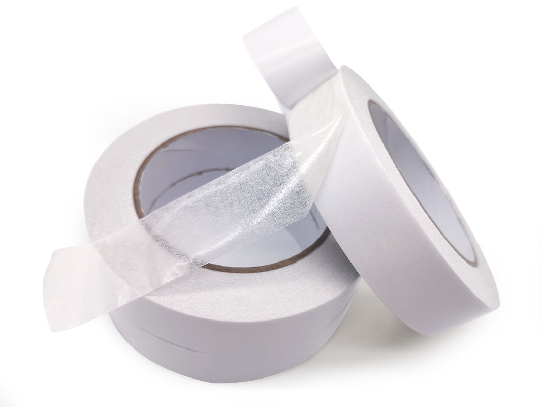 Hot Melt Adhesive Double Coated Tissue Tape For Fixing